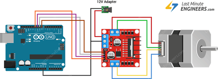 Wiring NEMA 17 Stepper Motor with L298N & Arduino