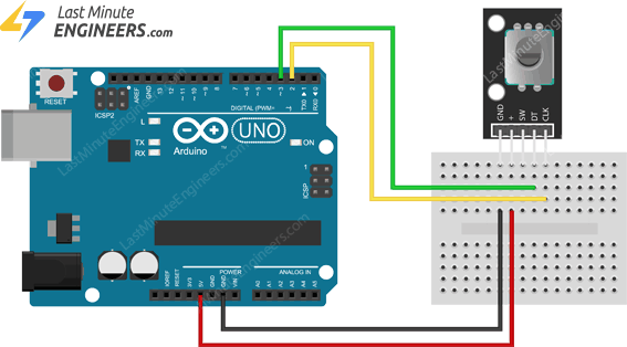 control rotary encoder using interrupts with arduino uno