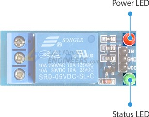 one channel relay module led