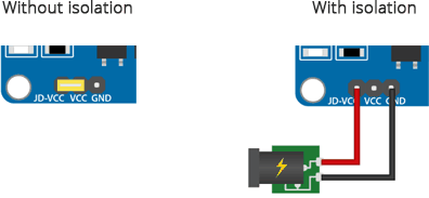 relay module power selection jumper setting