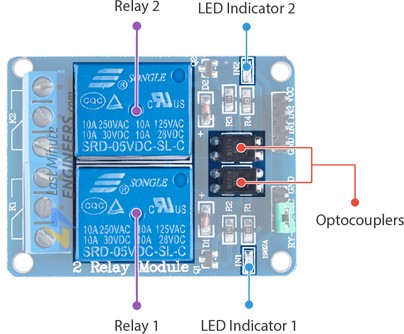 Arduino Relay Wiring Diagram from lastminuteengineers.com