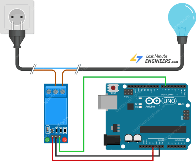 wiring one channel relay module with arduino