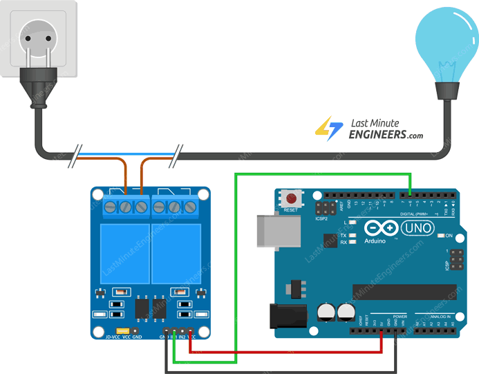 wiring relay module with arduino