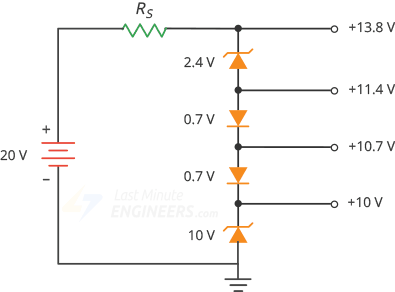 zener diode producing nonstandard voltages